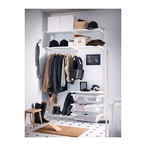 Ikea Algot Wall Upright Rod Shoe Organiser