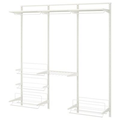 ALGOT wall upright/rod/shoe organiser white 190 cm 40 cm 196 cm