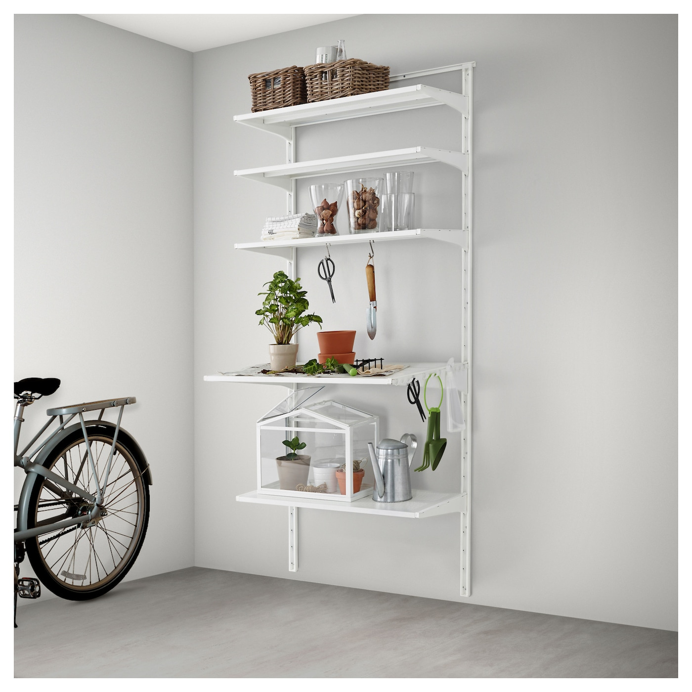 IKEA ALGOT wall upright/shelf/hook Can also be used in bathrooms and other damp areas indoors.