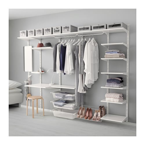 ALGOT Wall Uprightshelftriple Hook White 278x41x199 Cm