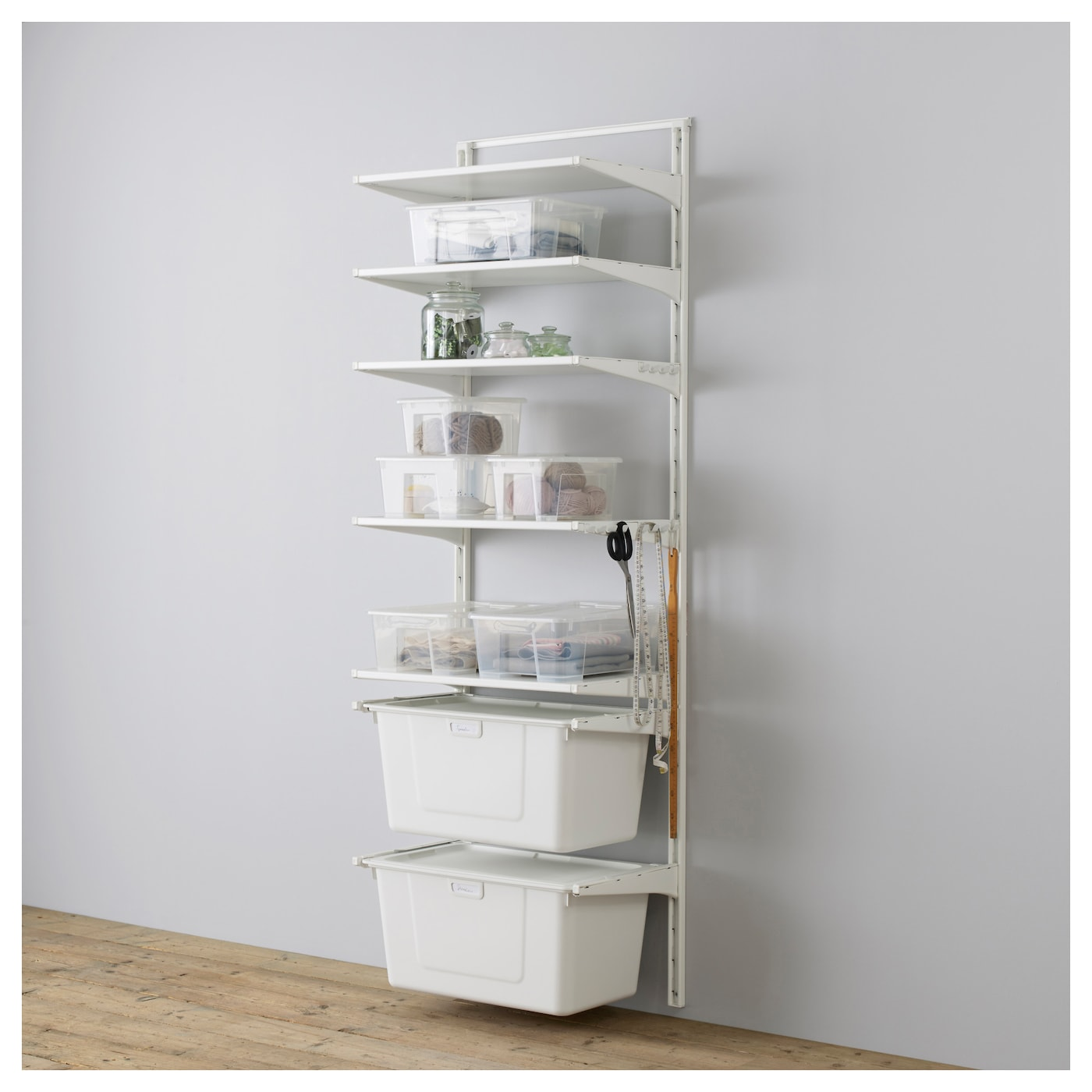 ikea algot wall can also be used in bathrooms and other - Wall Mounted Bookcase