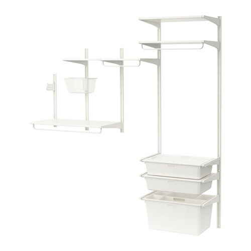 algot wall upright shelves box white 189x41x197 cm ikea. Black Bedroom Furniture Sets. Home Design Ideas