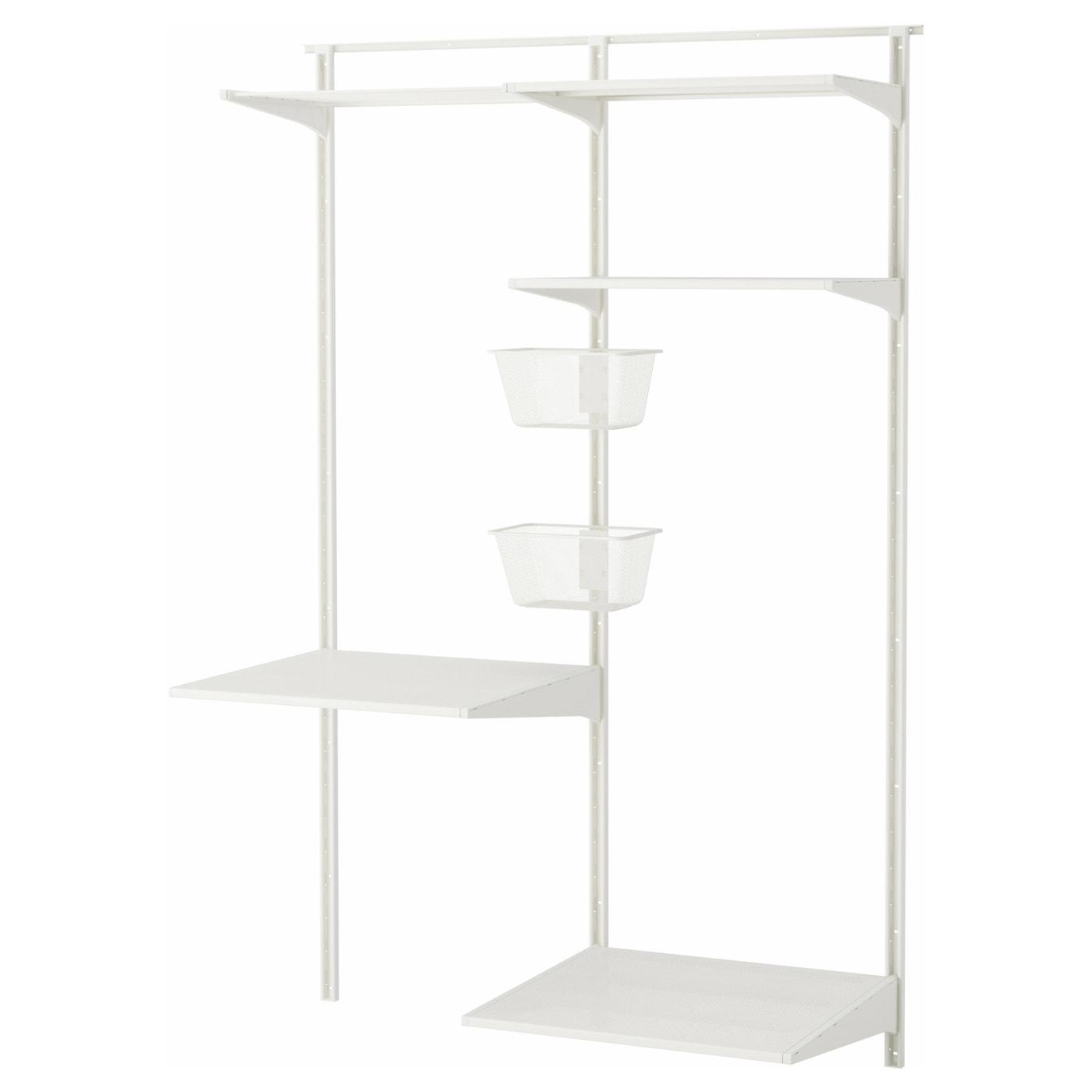 Algot wall upright shelves drying rack metal white for Ikea metal wall shelf