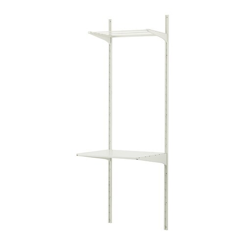algot wall upright shelves drying rack white 66x61x197 cm. Black Bedroom Furniture Sets. Home Design Ideas