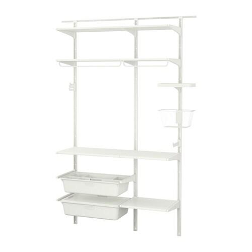 algot wall upright shelves rod white 154x41x199 cm ikea. Black Bedroom Furniture Sets. Home Design Ideas
