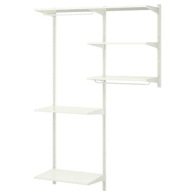 ALGOT wall upright/shelves/rod 132 cm 41 cm 197 cm