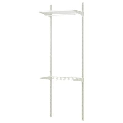 ALGOT wall upright/shelves/trouser hanger white 65 cm 40 cm 196 cm