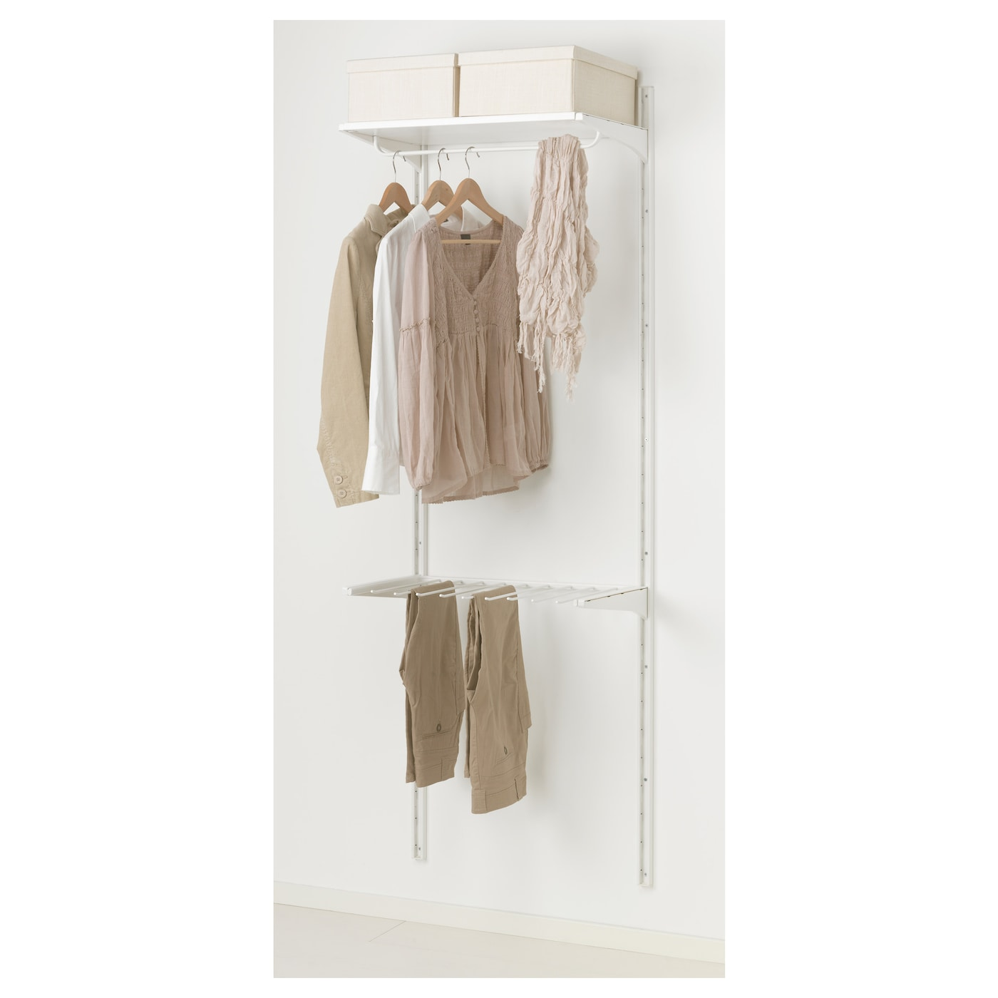 IKEA ALGOT wall upright/shelves/trouser hanger