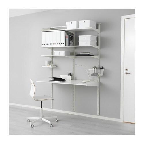 Algot Wall Upright Shelves White 154x60x196 Cm Ikea
