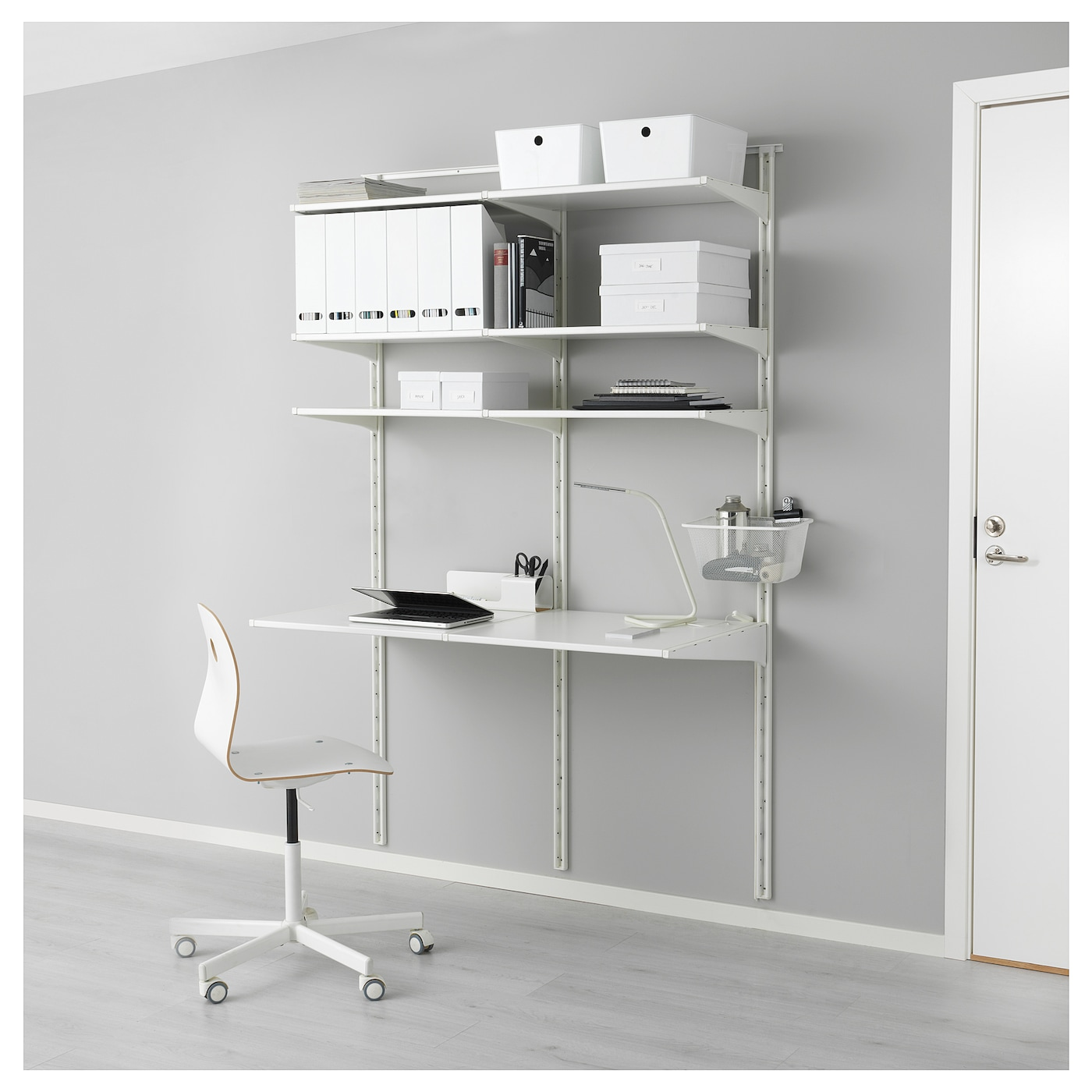 Ikea algot wall upright shelves can also be used in bathrooms and other damp areas