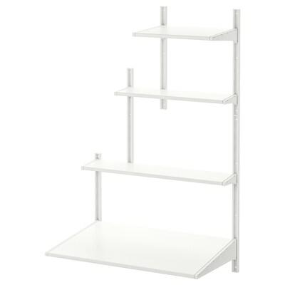 ALGOT wall upright/shelves white 86 cm 61 cm 141 cm