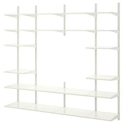 ALGOT wall upright/shelves white 210 cm 41 cm 197 cm