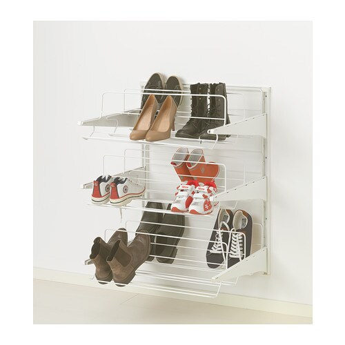 algot wall upright shoe organiser white 65x60x84 cm ikea. Black Bedroom Furniture Sets. Home Design Ideas