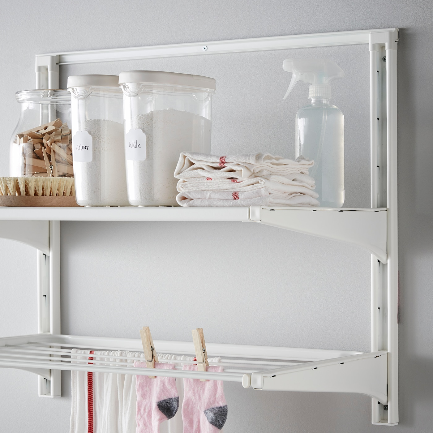 Ikea Algot Wall Upright with Shelves as