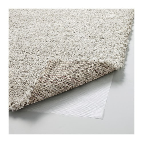 ALHEDE Rug, high pile Off-white 133x195 cm - IKEA