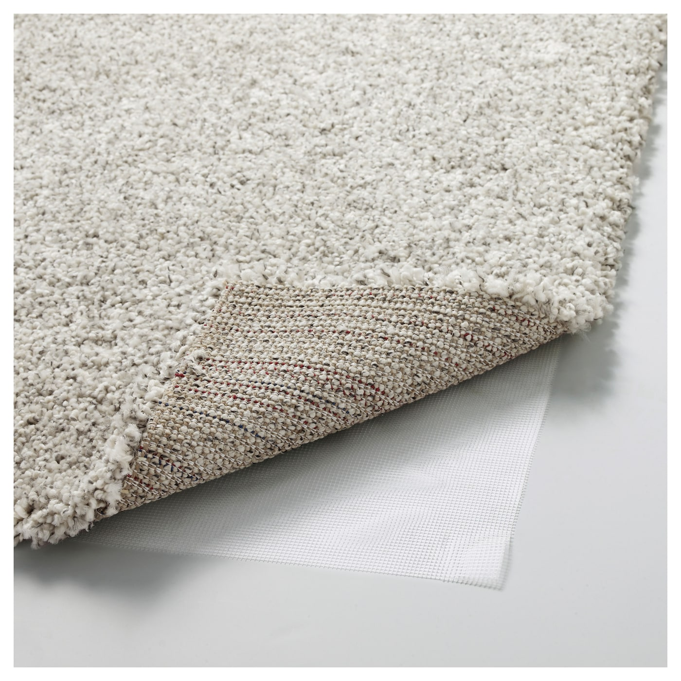 Alhede rug high pile off white 133x195 cm ikea for Ikea rugs
