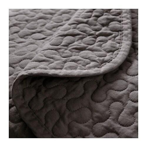 alina bedspread and 2 cushion covers dark grey 260x280. Black Bedroom Furniture Sets. Home Design Ideas