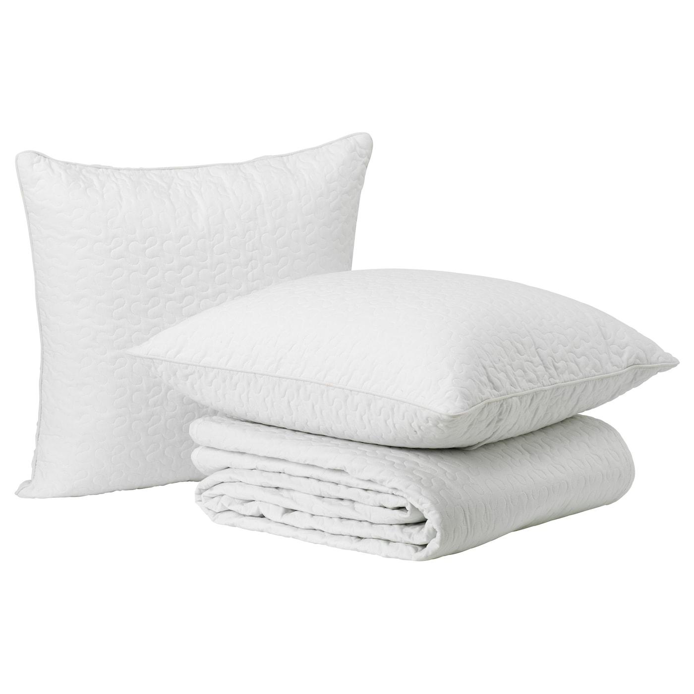 Alina bedspread and 2 cushion covers white 260x280 65x65 cm ikea - Copriletto alina ikea ...