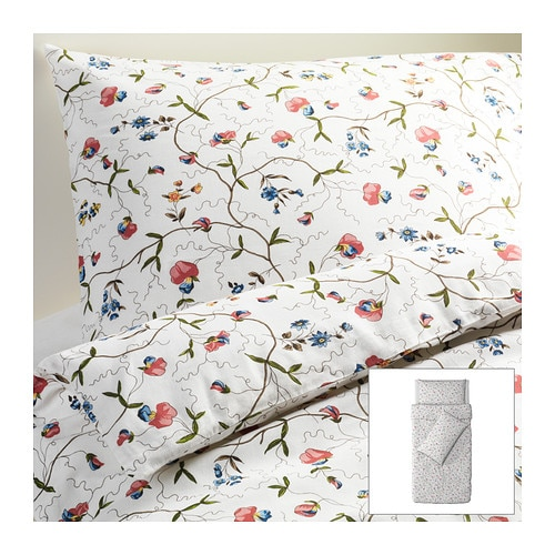 ALVINE ÖRTER Quilt cover and 2 pillowcases IKEA