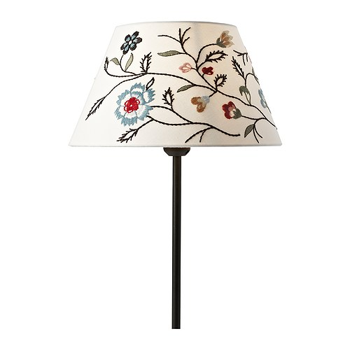 ALVINE PÄRLA Shade IKEA Shade of textile; gives a diffused and decorative light.
