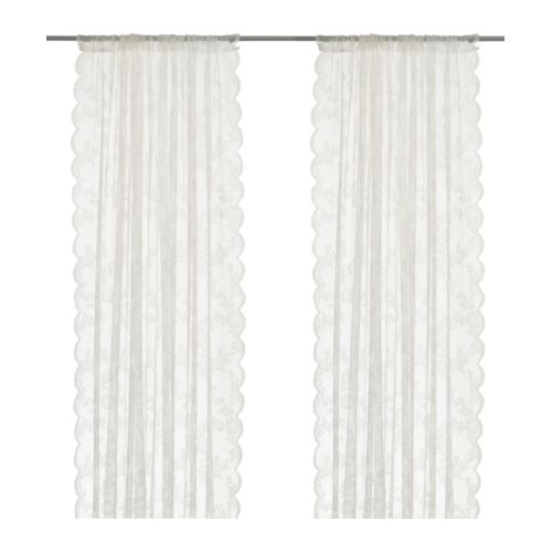 ALVINE SPETS Sheer curtains, 1 pair, off-white