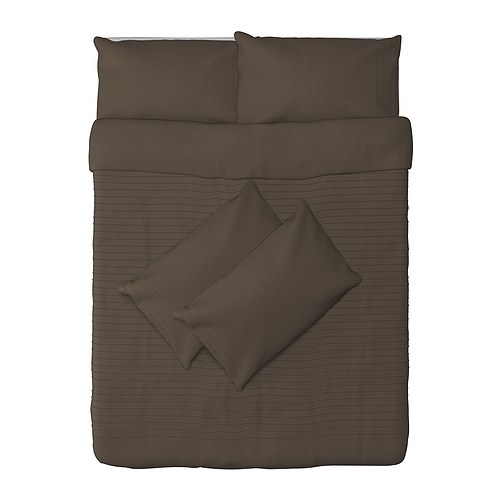 ALVINE STRÅ Quilt cover and 4 pillowcases IKEA Combed cotton; gives bedlinen a soft feel and an extra smooth and even surface.