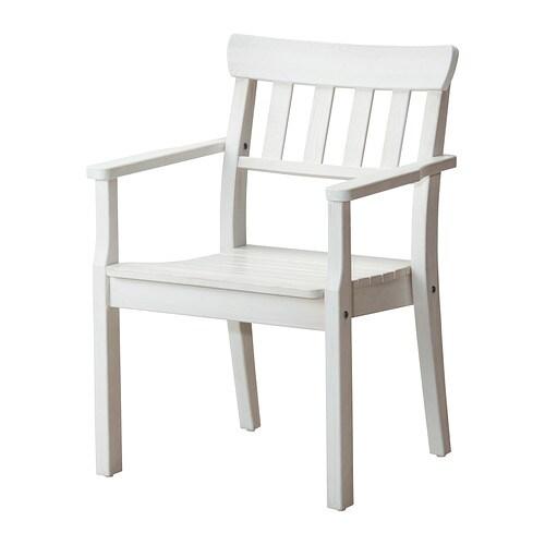 ÄNGSÖ Chair with armrests, white