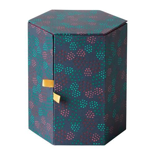 anilinare decoration box red green 14 x 16 cm ikea