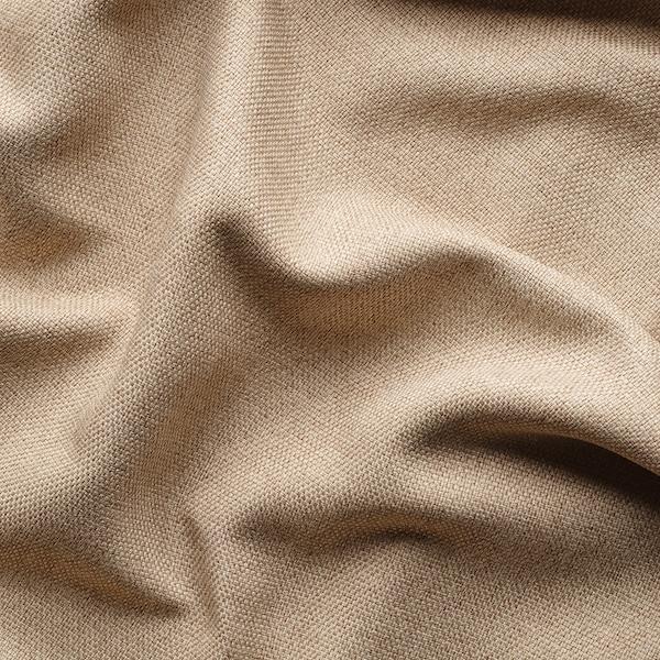 ANNAKAJSA Room darkening curtains, 1 pair, beige, 145x250 cm