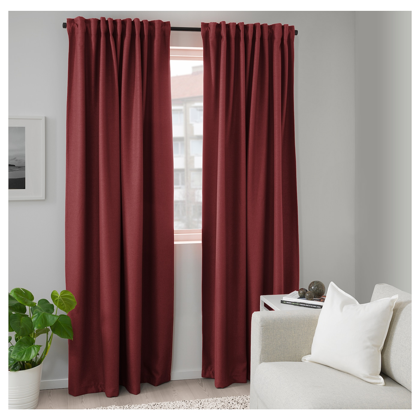 IKEA ANNAKAJSA room darkening curtains, 1 pair