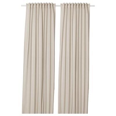 ANNALOUISA curtains, 1 pair beige 250 cm 145 cm 1.60 kg 3.63 m² 2 pack