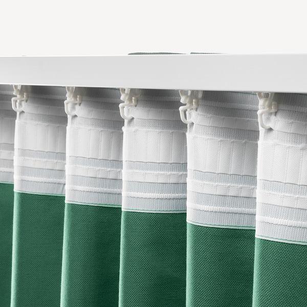 ANNALOUISA Curtains, 1 pair, green, 145x250 cm