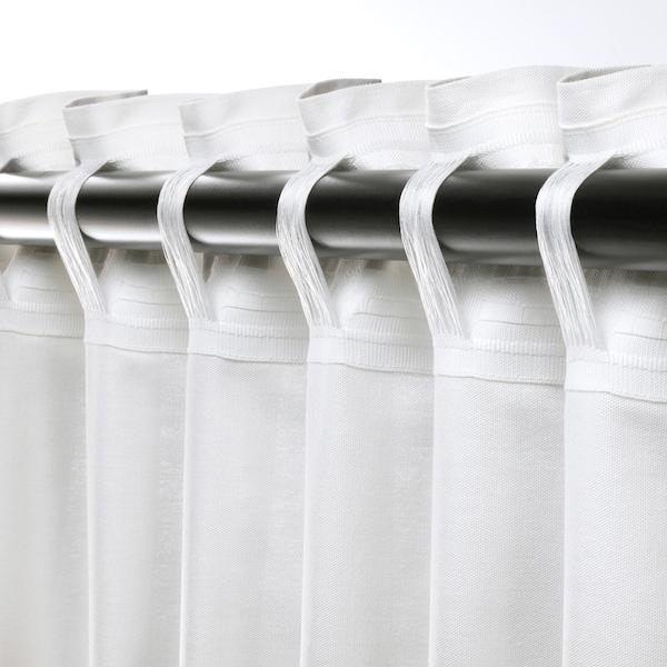 ANNALOUISA Curtains, 1 pair, white, 145x250 cm