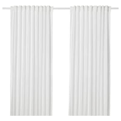 ANNALOUISA curtains, 1 pair white 250 cm 145 cm 1.60 kg 3.63 m² 2 pack