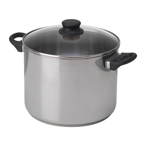 Annons Pot With Lid Glass Stainless Steel 10 L Ikea