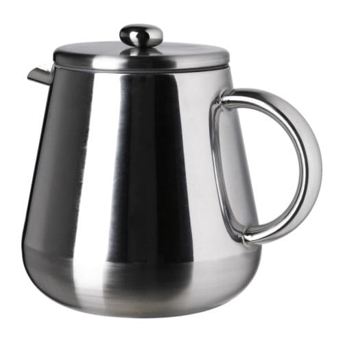 ANRIK Coffee/tea maker IKEA Made from double-walled stainless steel, which keeps drinks hot for longer while staying cool on the outside.