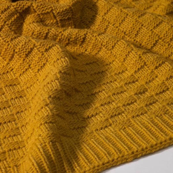 ANTOINETTA throw yellow 180 cm 120 cm
