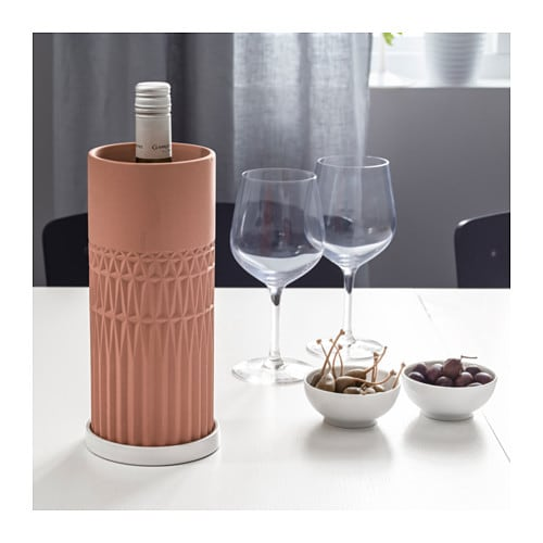 IKEA ANVÄNDBAR wine cooler with saucer The saucer is waterproof thanks to its glazed interior.
