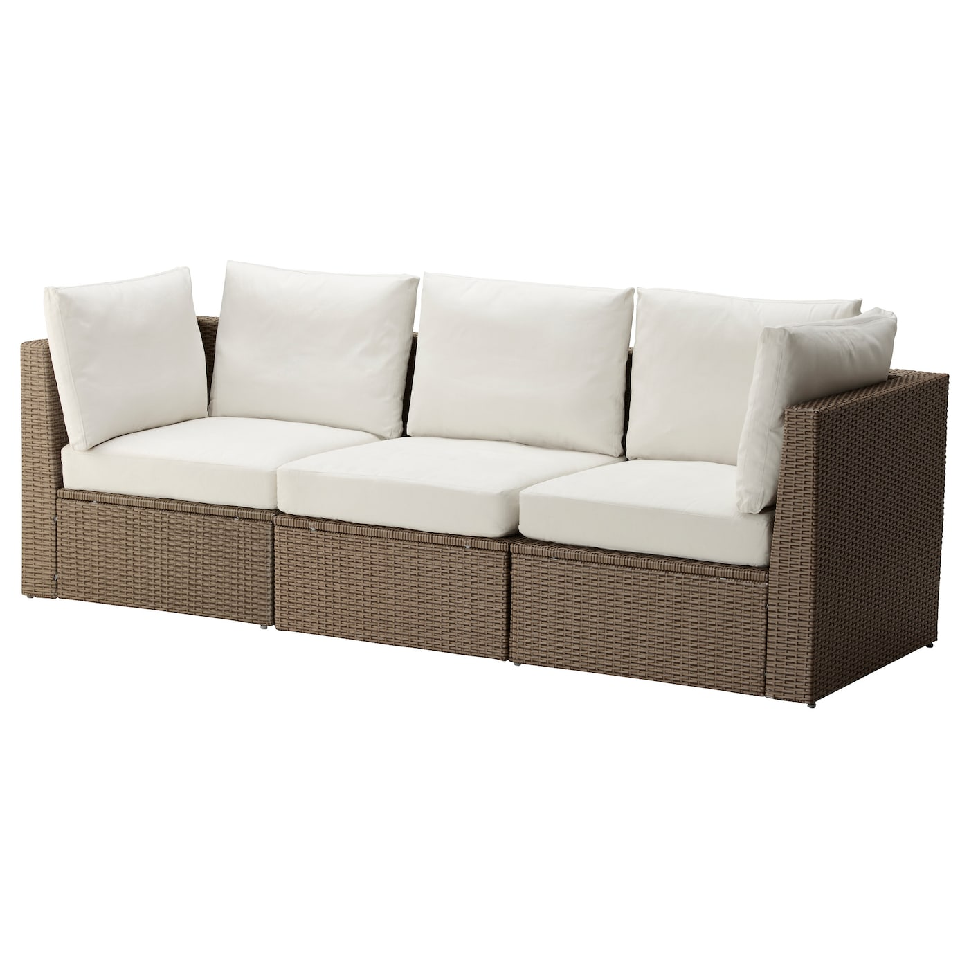 Arholma 3 seat sofa outdoor brown beige 217x76x66 cm ikea for Sofa rinconera exterior