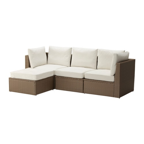 IKEA ARHOLMA 3-seat sofa with footstool, outdoor
