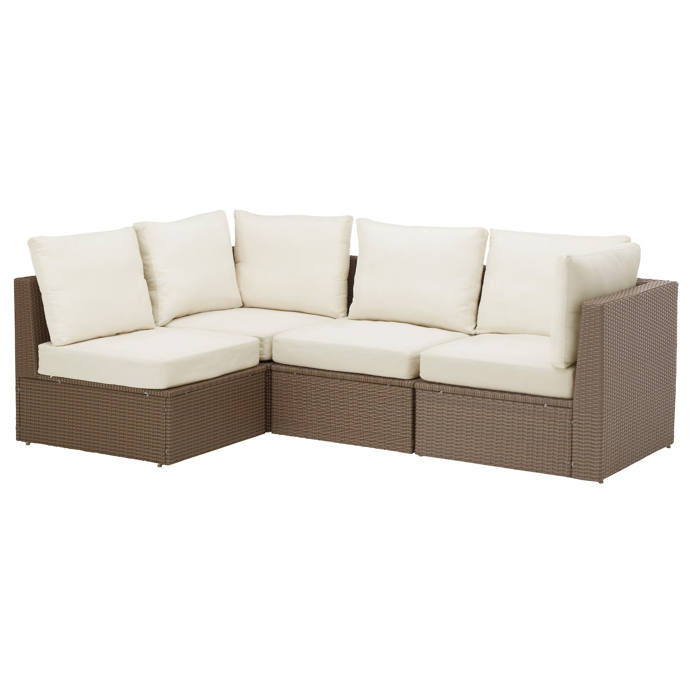 Arholma corner sofa 3 1 outdoor brown beige 141 217x76x66 for Sofa exterior 120 cm