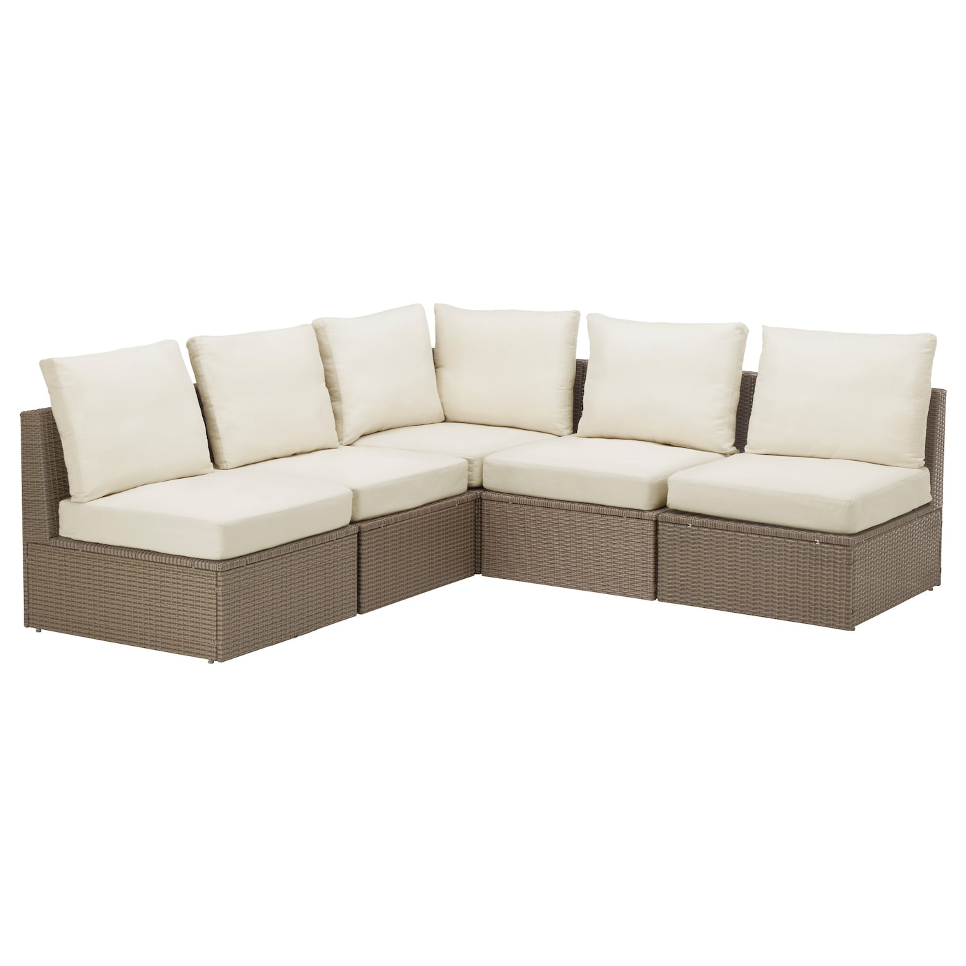 Arholma corner sofa 3 2 outdoor brown beige 206 206x76x66 for Sofa exterior 120 cm