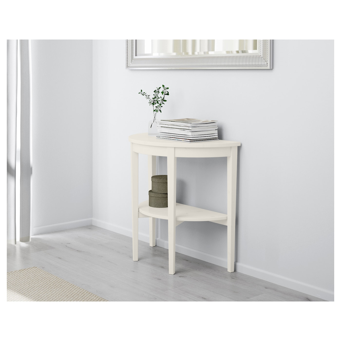 Arkelstorp window table white 80x40x75 cm ikea for Console meuble ikea