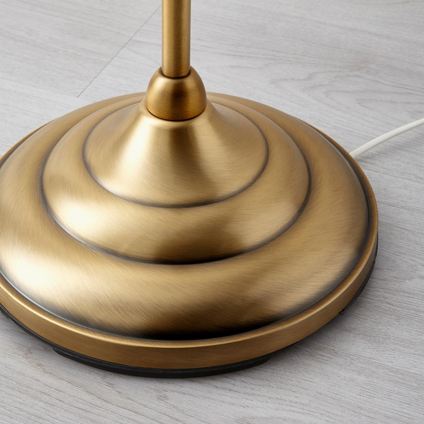 Arstid Brass White Floor Lamp Ikea