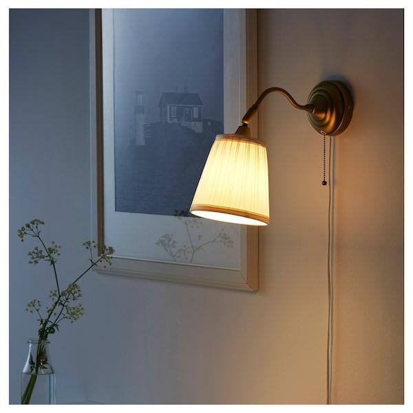 ÅRSTID Wall lamp, brass/white