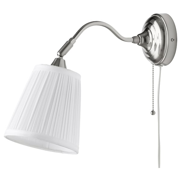 ÅRSTID wall lamp nickel-plated/white 40 W 38 cm 16 cm 2.5 m