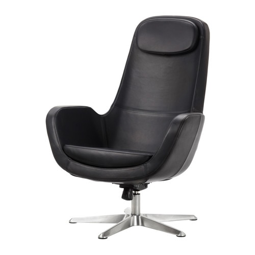 ARVIKA Swivel armchair IKEA Adjustable tilt tension; increase or decrease the resistance to suit your movements and weight.   Lever under the seat.