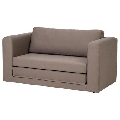 ASKEBY 2-seat sofa-bed, Dansbo medium brown