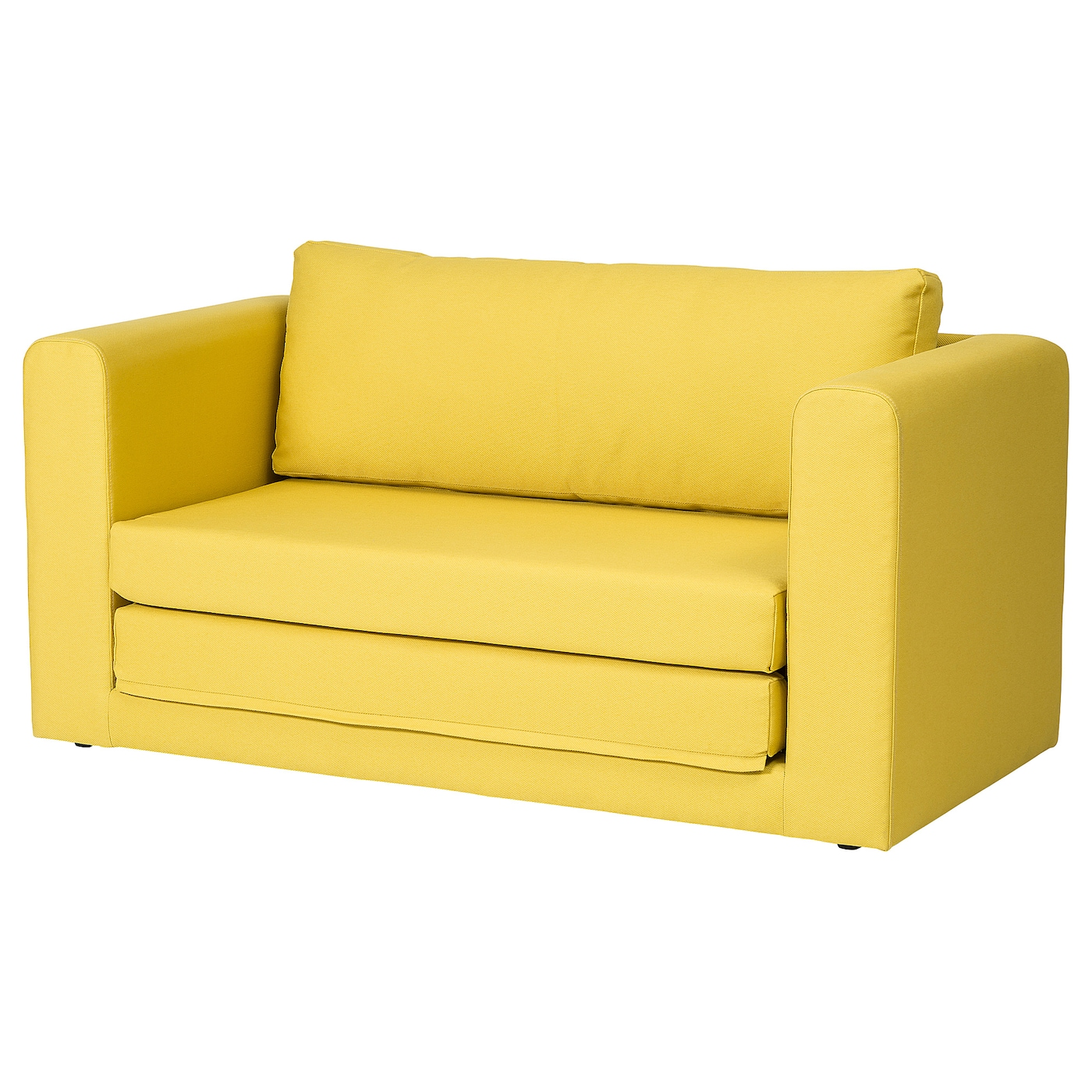 2-seat sofa-bed ASKEBY Gräsbo golden-yellow
