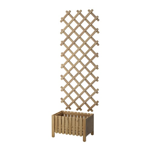 IKEA ASKHOLMEN flower box w trellis, outdoor